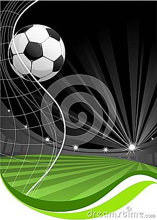 Soccer game background