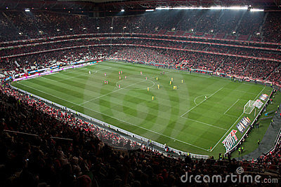 Soccer game stadium Editorial Stock Photo