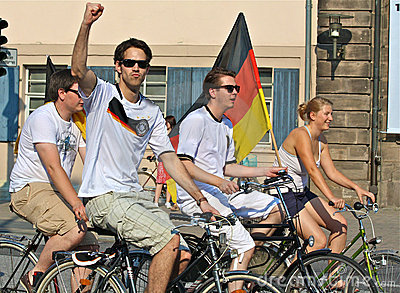 Soccer World Cup: German Fans  Editorial Photo