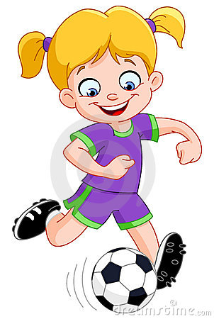Free Soccer Girl Stock Photo - 21464310