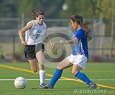 Soccer Girls JV Editorial Stock Photo