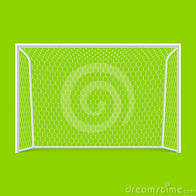 Soccer goal front view