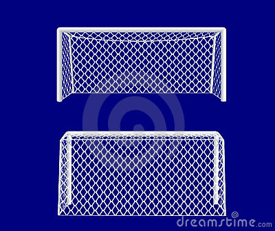 soccer goal from side royalty free stock image image
