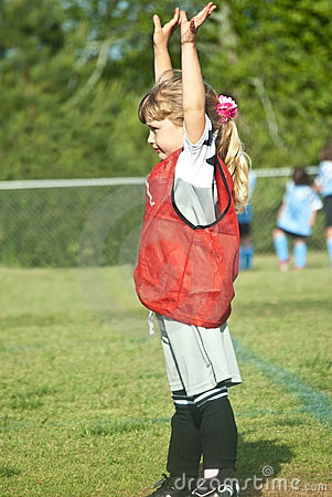 Soccer Goalie/Young Girl