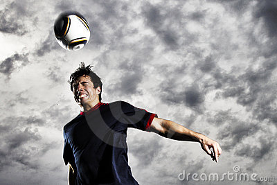 Soccer header ball