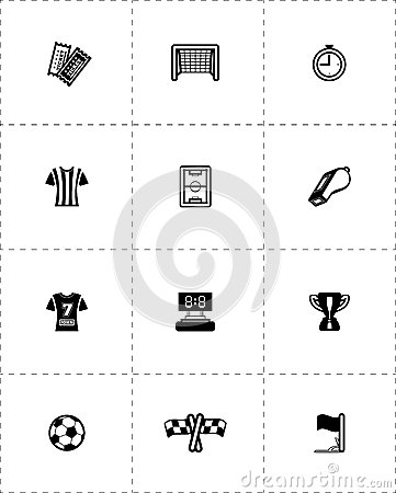 Free Soccer Icon Set Royalty Free Stock Photos - 40264948