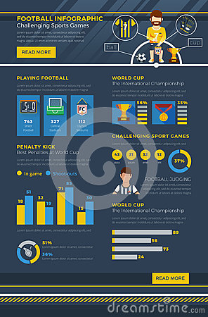 Infographic Ideas infographic soccer : Soccer Infographics Elements Infographic Vector. Stock ...