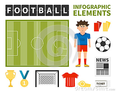 Soccer Infographic Stock Vector - Image: 39295191