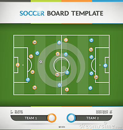 Infographic Ideas infographic soccer : Soccer Infographic Stock Vector - Image: 42259977