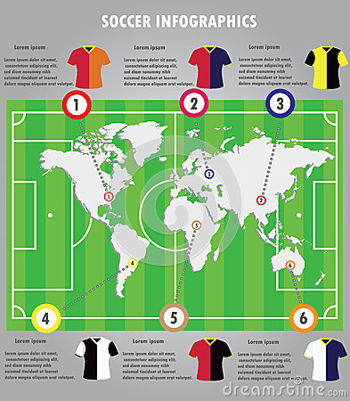 Infographic Ideas infographic soccer : Soccer Infographic Stock Vector - Image: 39295191