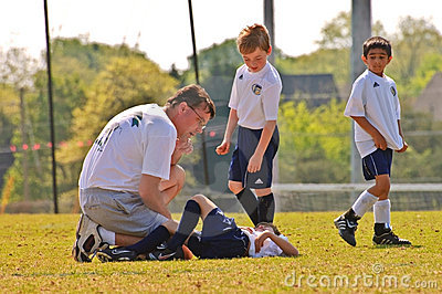 Soccer Injury Player Down Editorial Photography