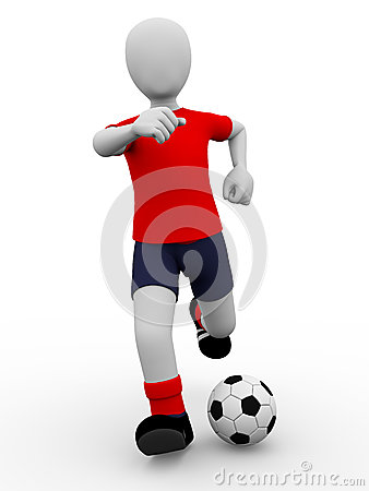 Soccer Kick Royalty Free Stock Photo - Image: 25023795