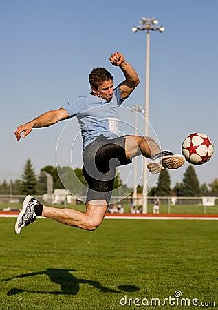 Free Soccer Kick Royalty Free Stock Photo - 6140115