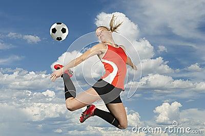 Soccer Kick in Midair