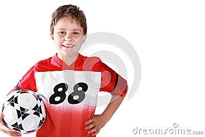 Soccer kid ( copy space)