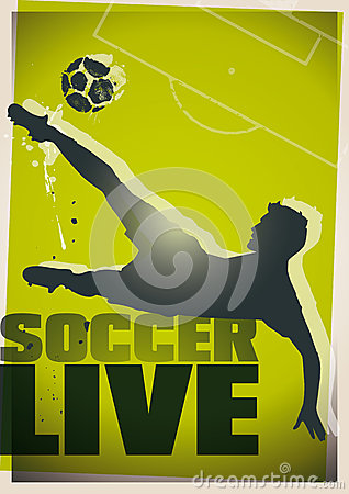Soccer live illustration
