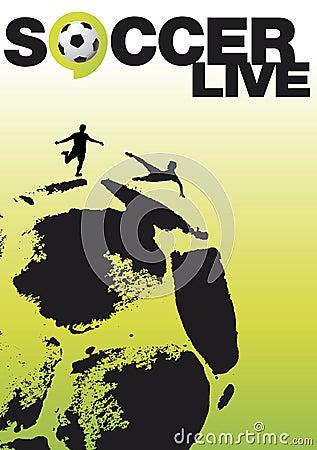 Soccer live poster