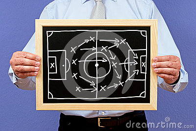 Soccer manager with strategy