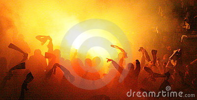 Soccer match Editorial Stock Image