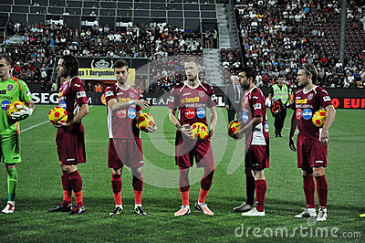 Soccer match beginning Editorial Image