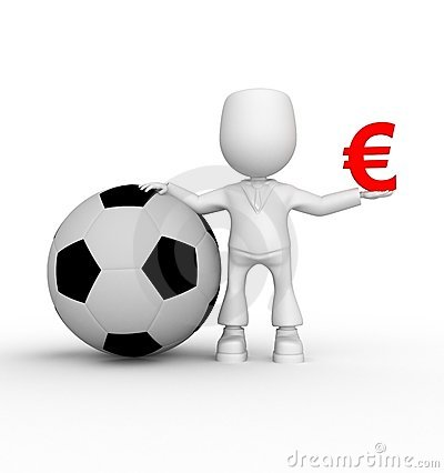 Soccer match in euro zone