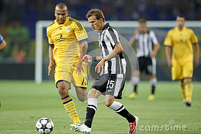 Soccer match metalist vs paok Editorial Photo