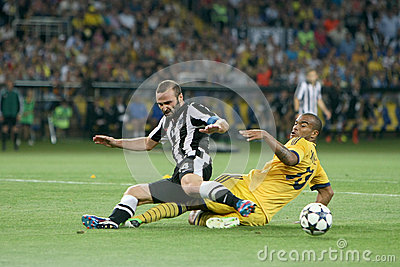 Soccer match metalist vs paok