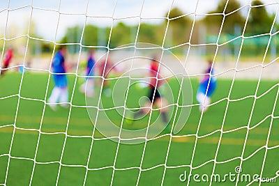 Soccer Match Selective Focus