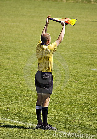 Free Soccer Official With Flag Stock Photo - 2364550