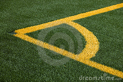 Soccer pitch corner marking