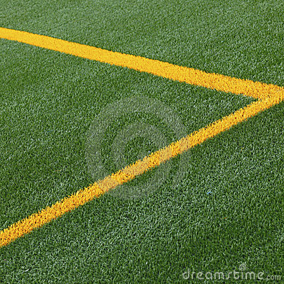 Soccer pitch line markings