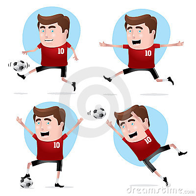Soccer Player in Actions