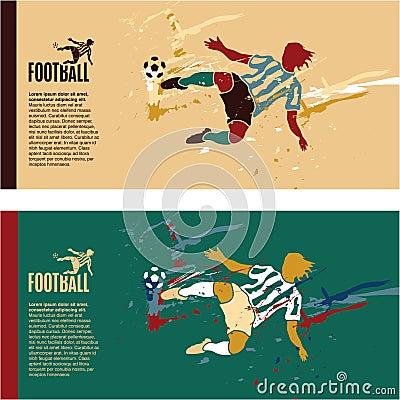 Soccer player kick the ball