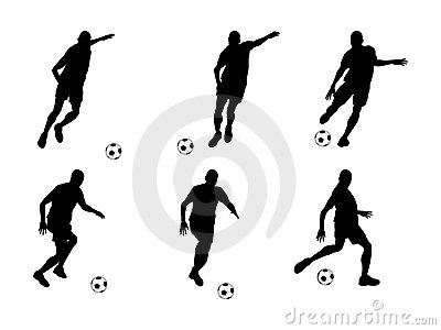 Soccer player (vector)