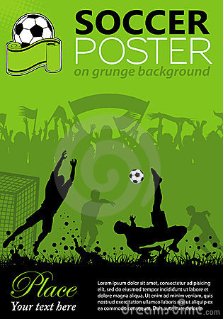 Free Soccer Poster Royalty Free Stock Images - 23716419