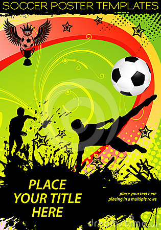 Free Soccer Poster Royalty Free Stock Photo - 24294085