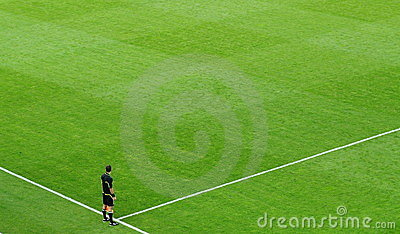 A soccer referee on the field Editorial Photography