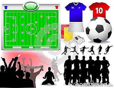 Soccer Set - Vector