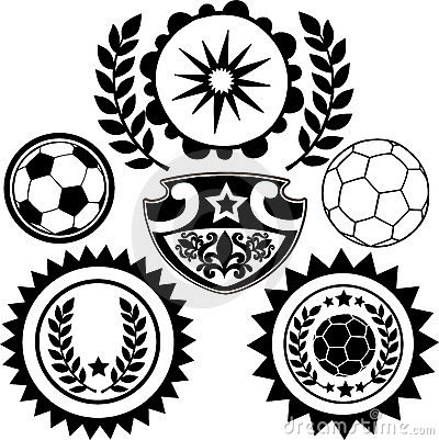 Soccer Sports Crests Vector Illustration