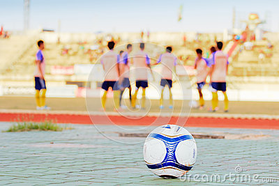 Soccer on the sports field
