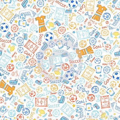 Soccer Sports Seamless Pattern