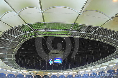 Soccer stadium cover and score board