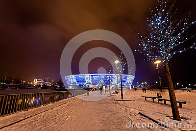 Soccer stadium Donbass-Arena Editorial Stock Image