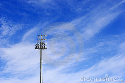 Soccer stadium floodlight