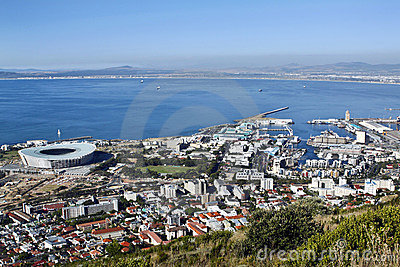 The soccer stadium in Green Point,