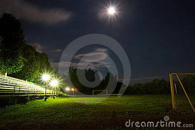 Soccer stadium by night