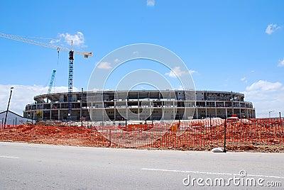Soccer stadium unfinished