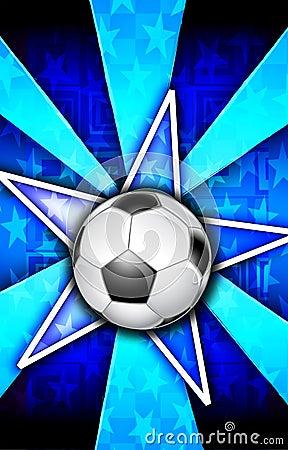 Soccer Star Burst Blue