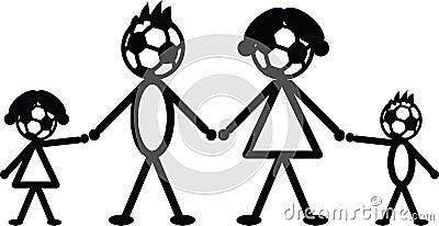 Soccer stick family
