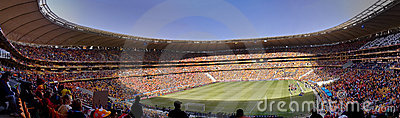 Soccer Supporters Panoramic - FIFA WC Editorial Photo